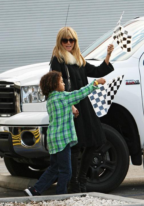 Heidi Klum à Long Beach pour l'anniversaire de son fils Johan le 23 novembre 2013
