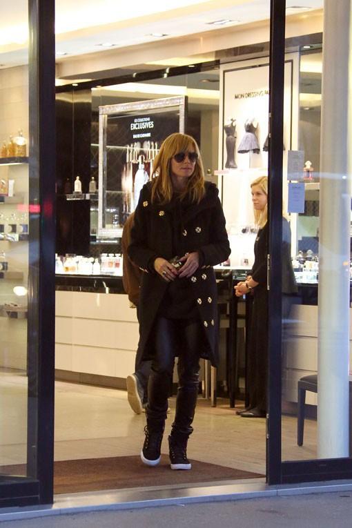 Heidi Klum à Paris le 17 mars 2014
