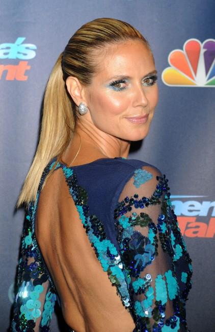 """Heidi Klum lors de la soirée """"America's Got Talent Season 8 Pre-Show Red Carpet Event"""" à New York, le 24 juillet 2013."""