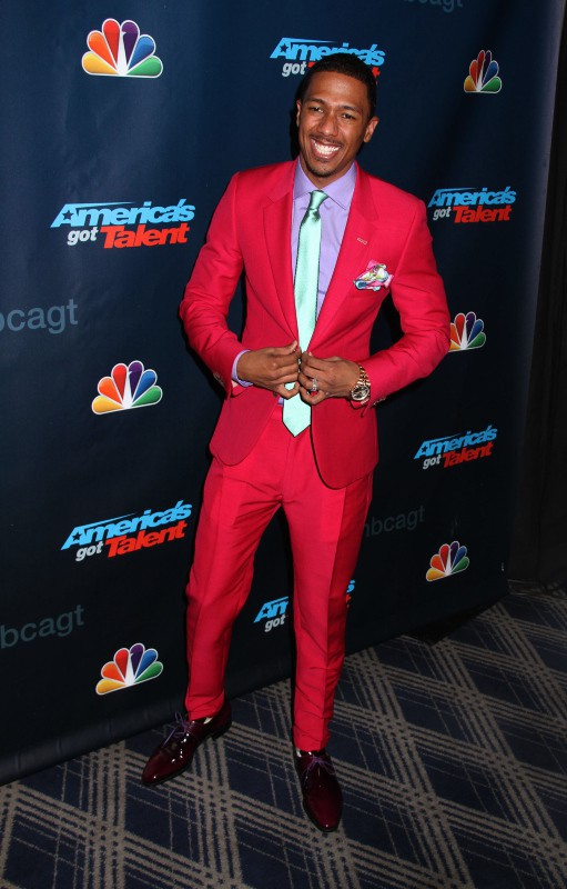 "Nick Cannon lors de la soirée ""America's Got Talent"" à New York, le 7 août 2013."