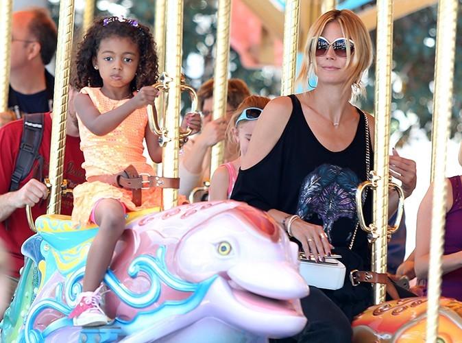 Photos : Heidi Klum : journée détente au parc d'attractions avec son chéri et toute sa marmaille !