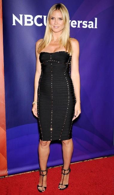 """Heidi Klum lors de la conférence de presse """"NBC Universal Summer Press Day"""" en Californie, le 22 avril 2013."""