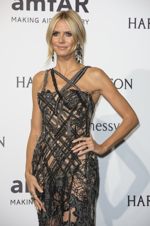 Heidi Klum à Milan, le 26 septembre 2015