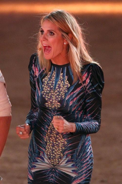 Qaund elle doit encourager quelqu'un, Heidi ne rigole pas !
