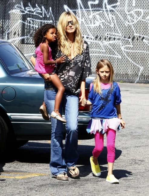 Heidi Klum en famille le 28 avril 2013 à Los Angeles