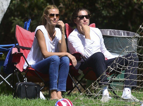 Heidi Klum passe le week-end en famille à Los Angeles, le 27 septembre 2014
