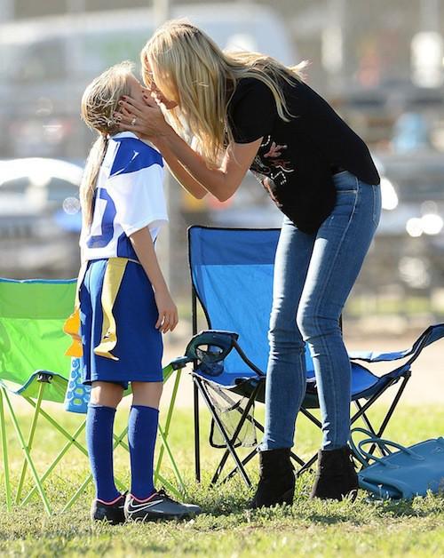 Photos : Heidi Klum : supportrice de choc, elle donne tout pour ses enfants !