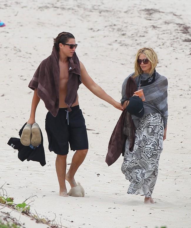 Heidi Klum et Vito Schnabel à Saint-Barthélémy le 31 mai 2015