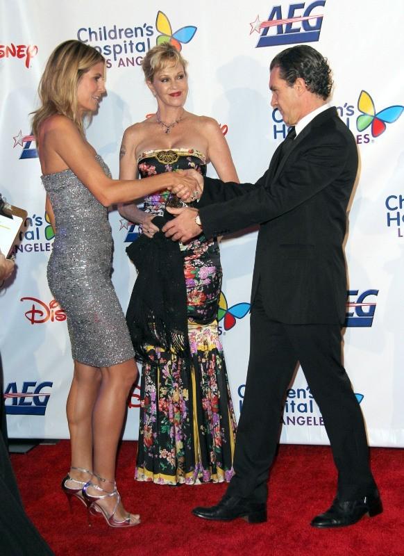 Heidi Klum, Melanie Griffith et Antonio Banderas le 20 octobre 2012 à Los Angeles