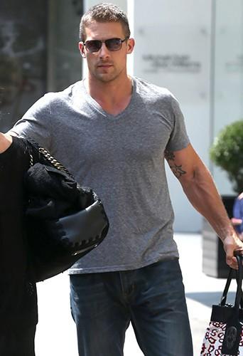 Le nouveau bodyguard d'Heidi Klum à New York le 26 août 2014