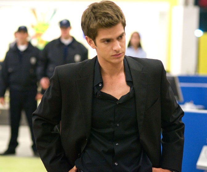 Andrew Garfield dans le film The Social Network !