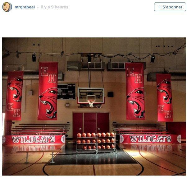 Le gymnase de High School Musical, là où plusieurs chansons ont été chantées !