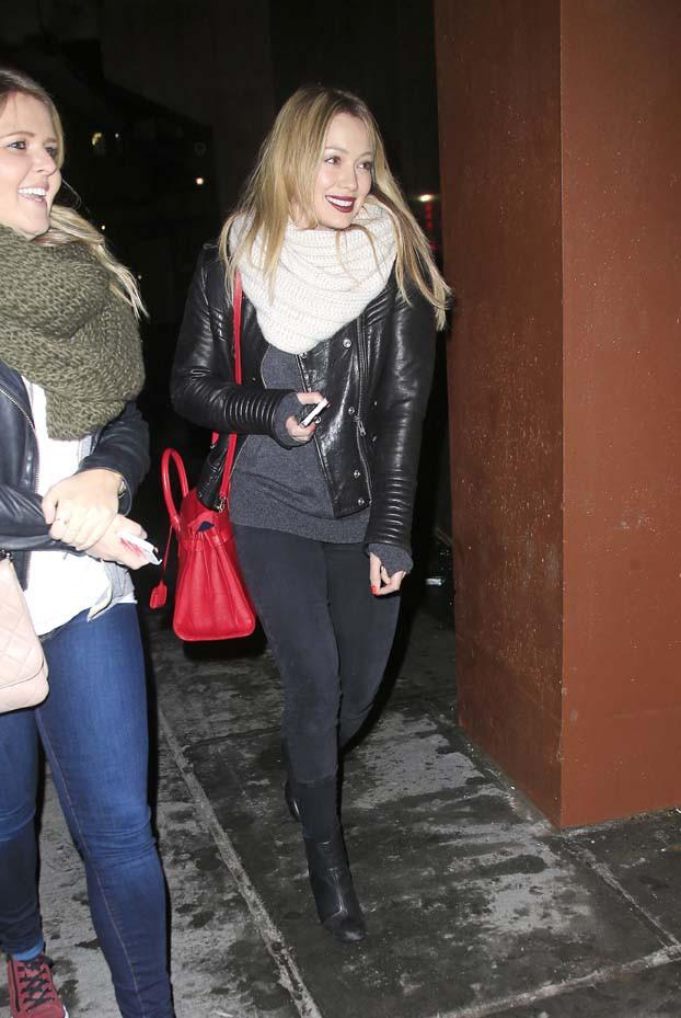 Hilary Duff à New-York le 5 février 2014