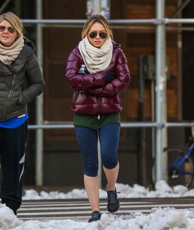 Hilary Duff à New-York le 6 février 2014