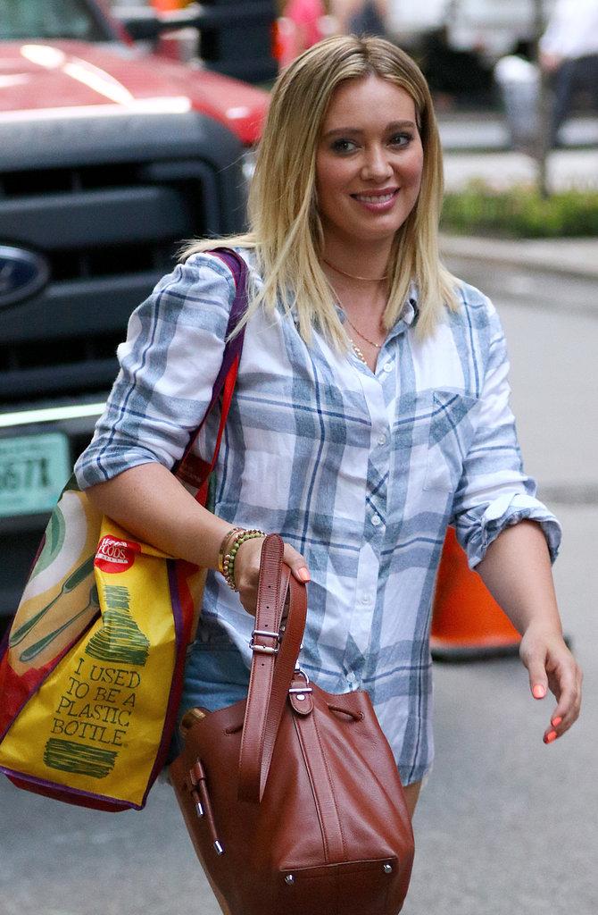 """Hilary Duff à New York sur le tournage de la série """"Younger"""""""