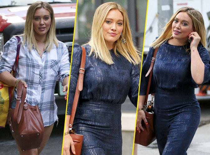 Hilary Duff à New York sur le tournage de la série