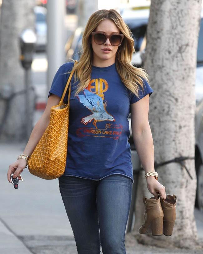 Hilary Duff à Los Angeles le 8 janvier 2013