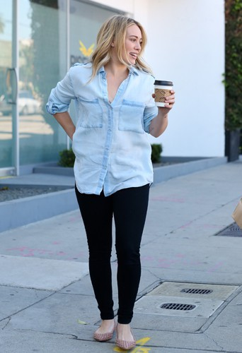 Hilary Duff à Los Angeles le 12 décembre 2013
