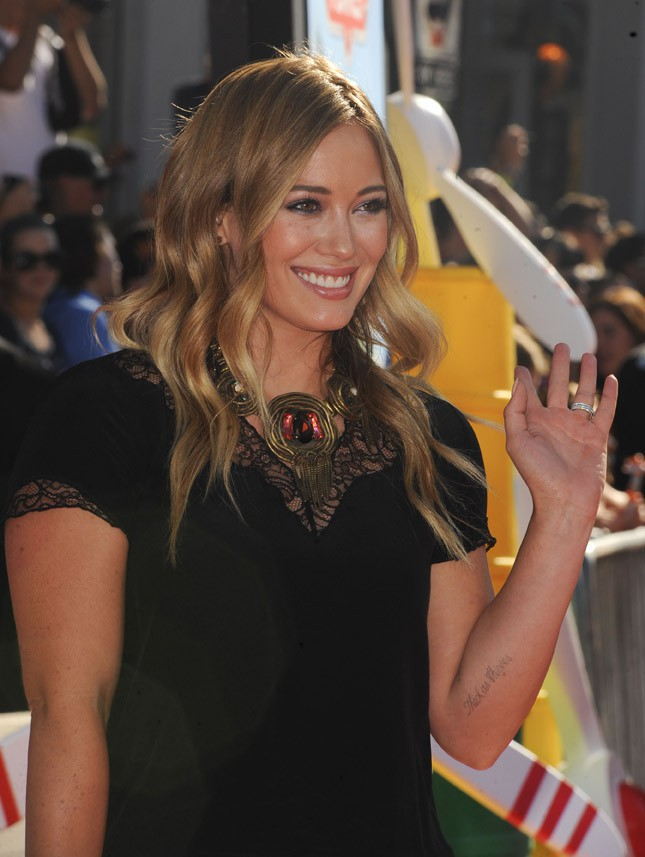 """Hilary Duff à l'avant-première du film d'animation """"Planes"""" à Hollywood le 5 août 2013"""