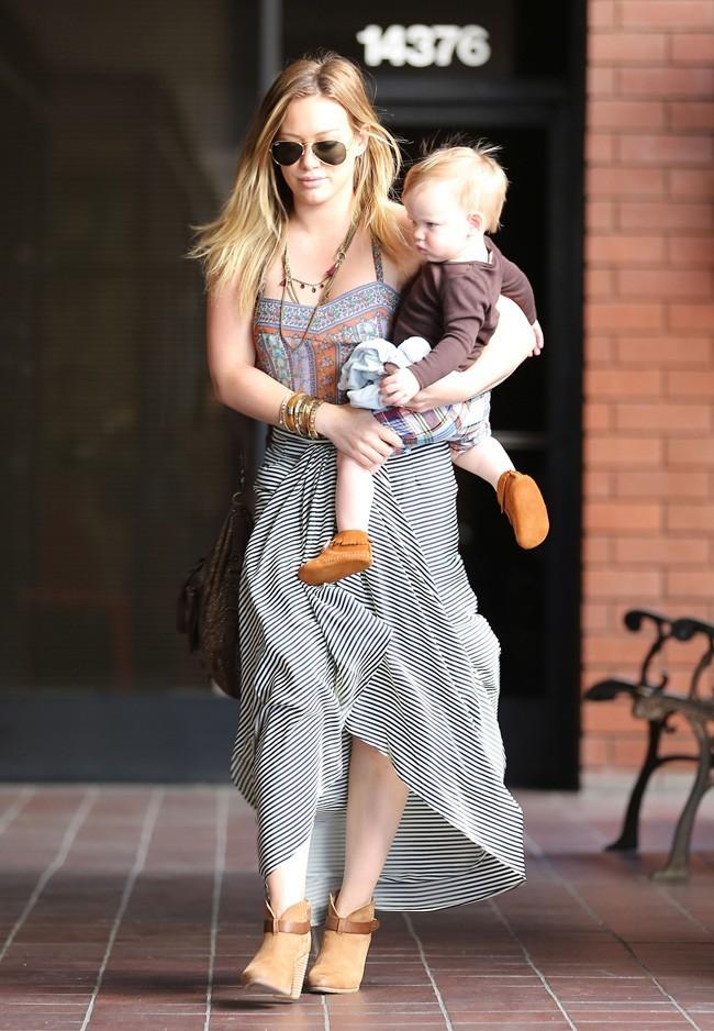Hilary Duff et Luca le 13 mars 2013 à Sherman Oaks