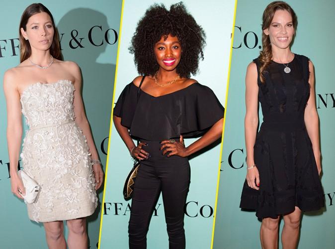 Photos : Hilary Swank, Inna Modja, Jessica Biel : toutes présentes à l'inauguration de la boutique Tiffany & Co sur les Champs-Elysées !