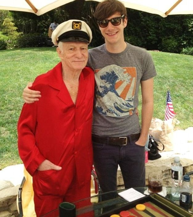 Hugh et son fils, Cooper