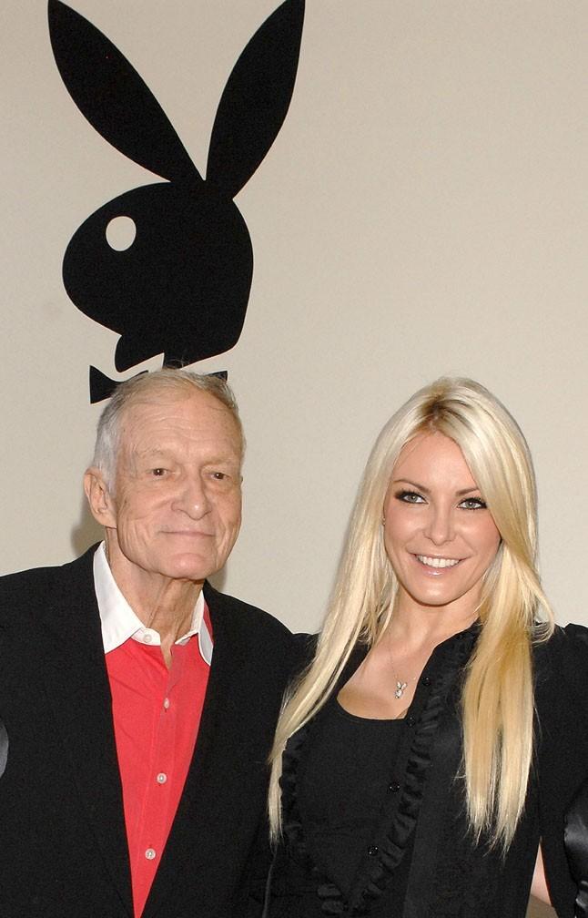 Hugh Hefner et Crystal Harris à Beverly Hills le 7 août 2012