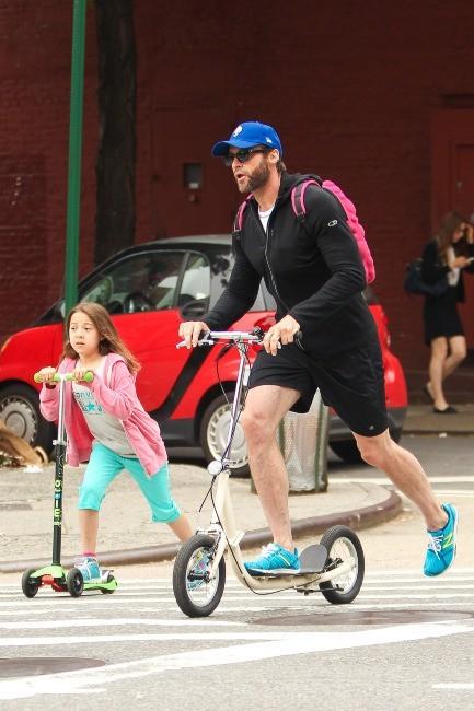 Hugh Jackman et sa fille Ava, New York, 10 juin 2013.
