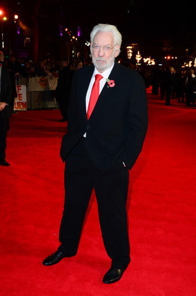 Donald Sutherland à Londres le 10 novembre 2014 pour la promo de Hunger Games