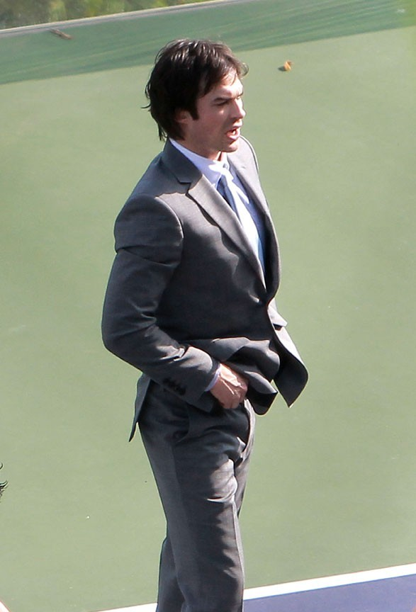 Ian Somerhalder sur le tournage de Time Framed à Los Angeles le 21 octobre 2012