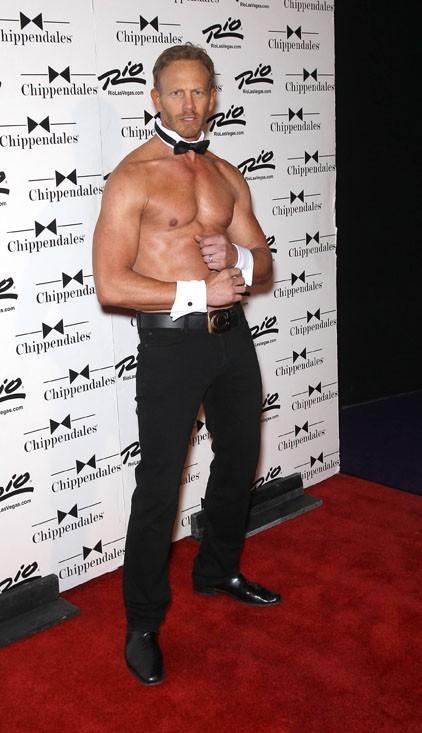Ian Ziering pour ses début de Chippendale à Las Vegas le 8 juin 2013