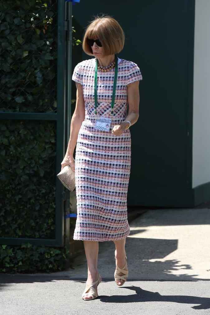 Anna Wintour le 6 juillet 2016 à Wimbledon