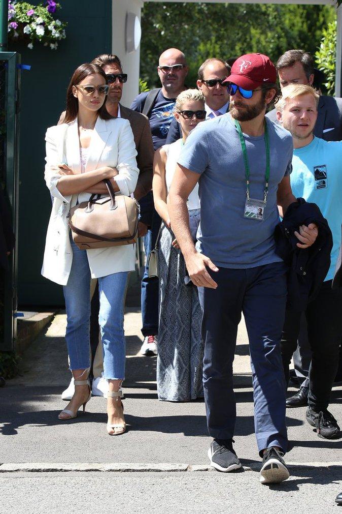 Bradley Cooper et Irina Shayk le 6 juillet 2016 à Wimbledon