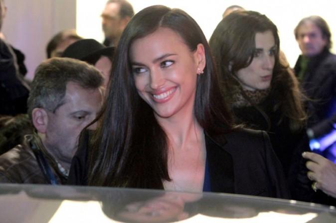 Irina Shayk à l'inauguration de la nouvelle boutique Roberto Cavalli organisée à Milan le 22 février 2014