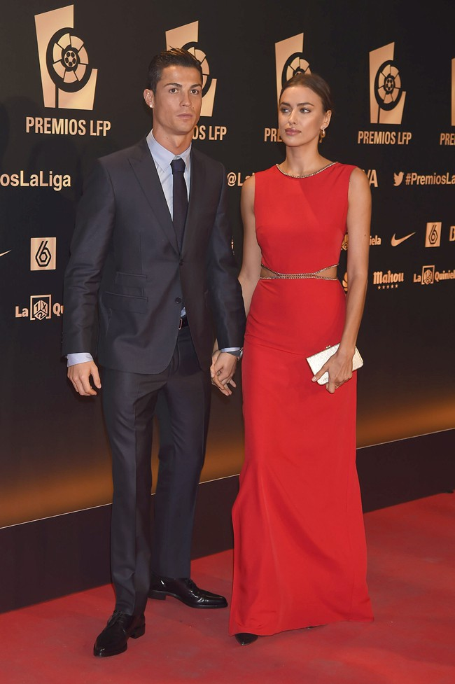 Irina Shayk et Cristiano Ronaldo à Madrid le 27 octobre 2014
