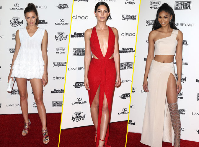 Irina Shayk, Lily Aldridge, Chanel Iman : jeux de jambes sexy pour Sports Illustrated!