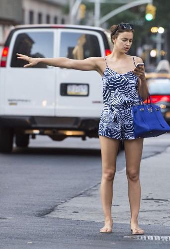 Irina Shayk à New York le 19 juin 2014