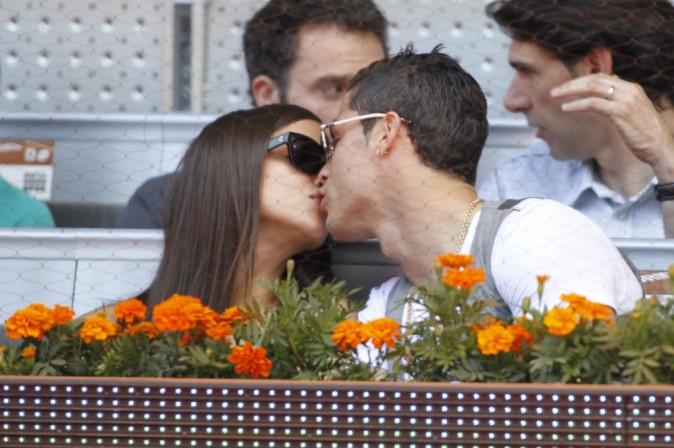 Irina Shayk et Cristiano Ronaldo, Madrid, 10 mai 2013.