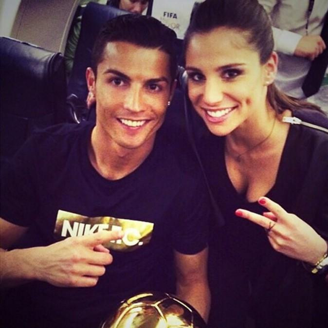 Lucia Villalon avec Cristiano Ronaldo