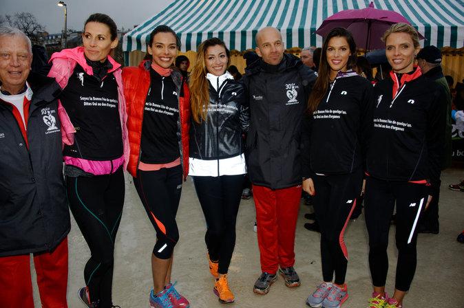 Iris Mittenaere, Marine Lorphelin, Rachel Legrain-Trapani Thalmann, et la présidente du comité Miss France Sylvie Tellier