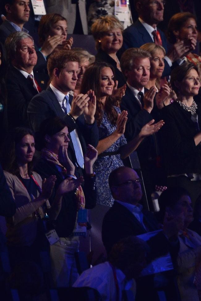 Kate Middleton et le Prince Harry le 12 août 2012 lors de la clôture des J.O de Londres