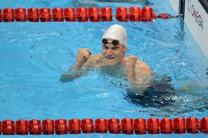 Yannick Agnel, champion olympique le 30 juillet 2012 à Londres