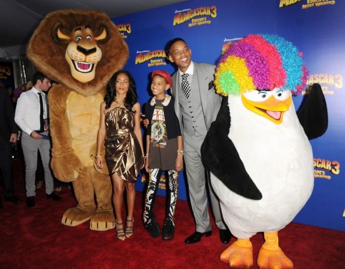 Jada Pinkett en famille lors de la première de Madagascar 3 à New York, le 7 juin 2012.
