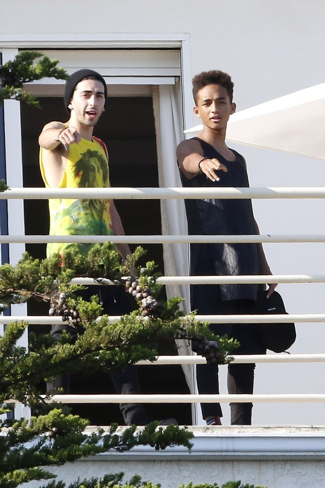 Jaden Smith chez les Kardashian à Malibu le 4 juillet 2013