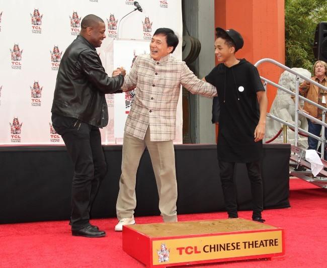 Jackie Chan, Chris Tucker et Jaden Smith le 6 juin 2013 à Hollywood