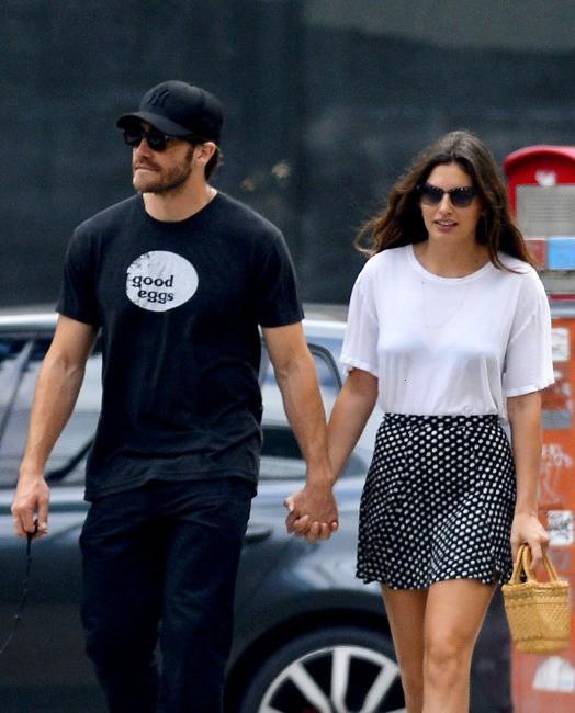 Jake Gyllenhaal et Alyssa Miller à New York, le 14 juillet 2013.
