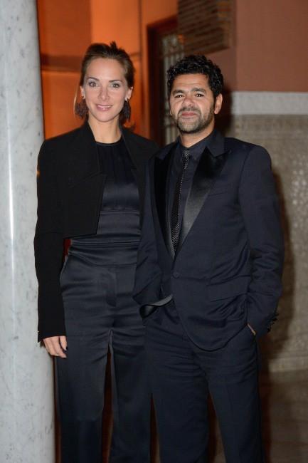 Jamel Debbouze et Mélissa Theuriau lors de la soirée Dior à Marrakech, le 1er décembre 2013.
