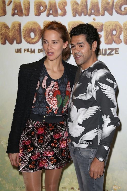Jamel Debbouze et Mélissa Theuriau à la première de Pourquoi j'ai pas mangé mon père à Paris, le 29 mars 2015