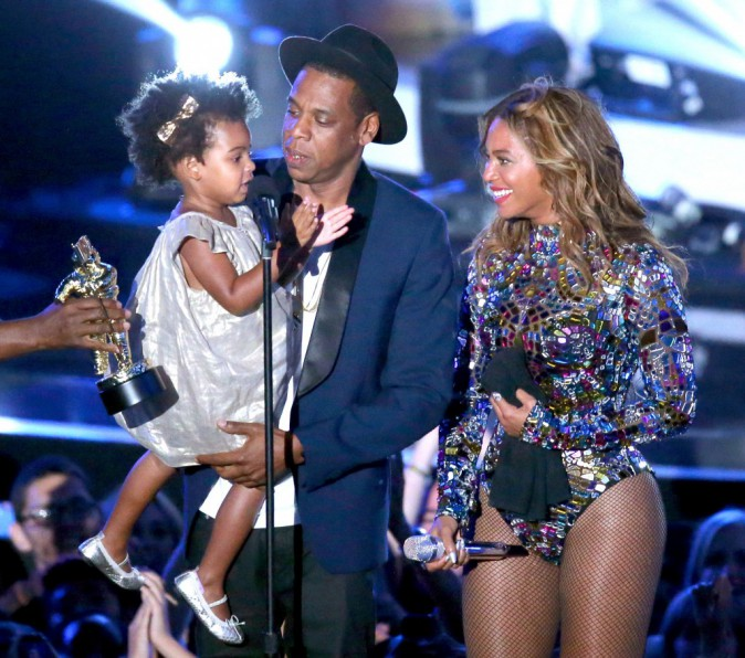 Blue Ivy, Jay-Z et Beyoncé