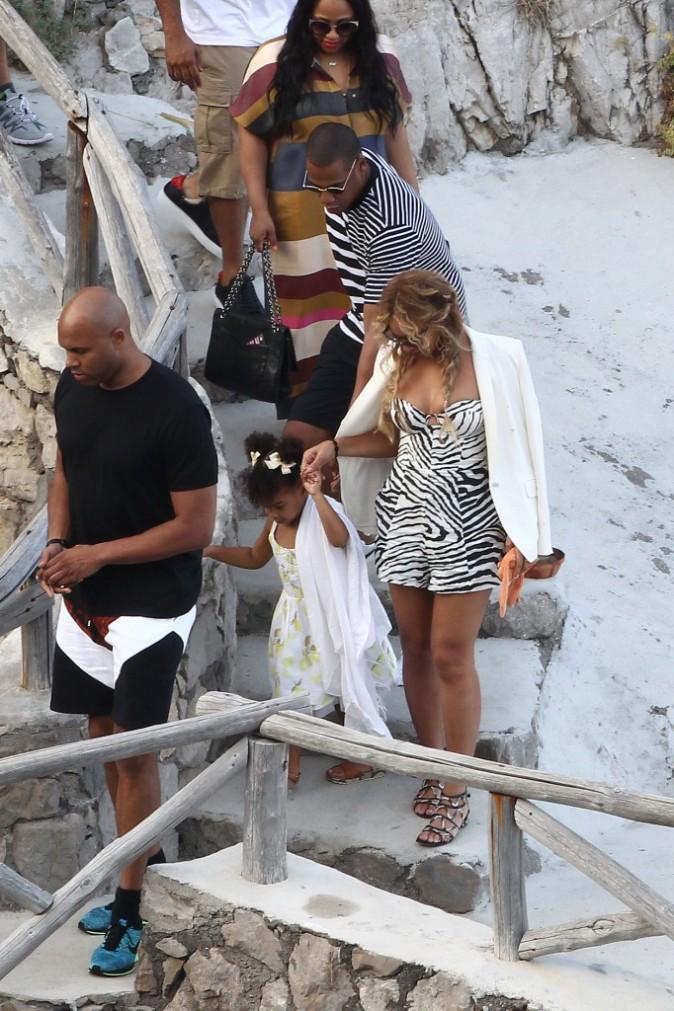 Beyoncé, Jay-Z et Blue Ivy le 10 septembre 2015